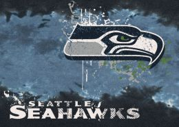Seattle Seahawks Fade Logo Area Rug - NFL Football Mat