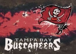 Tampa Bay Buccaneers Fade Logo Area Rug - NFL Football Mat