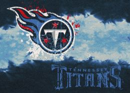 Tennesseee Titans Fade Logo Area Rug - NFL Football Mat