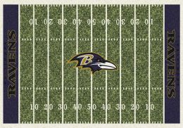 Baltimore Ravens Home Field Area Rug - NFL Football Logo