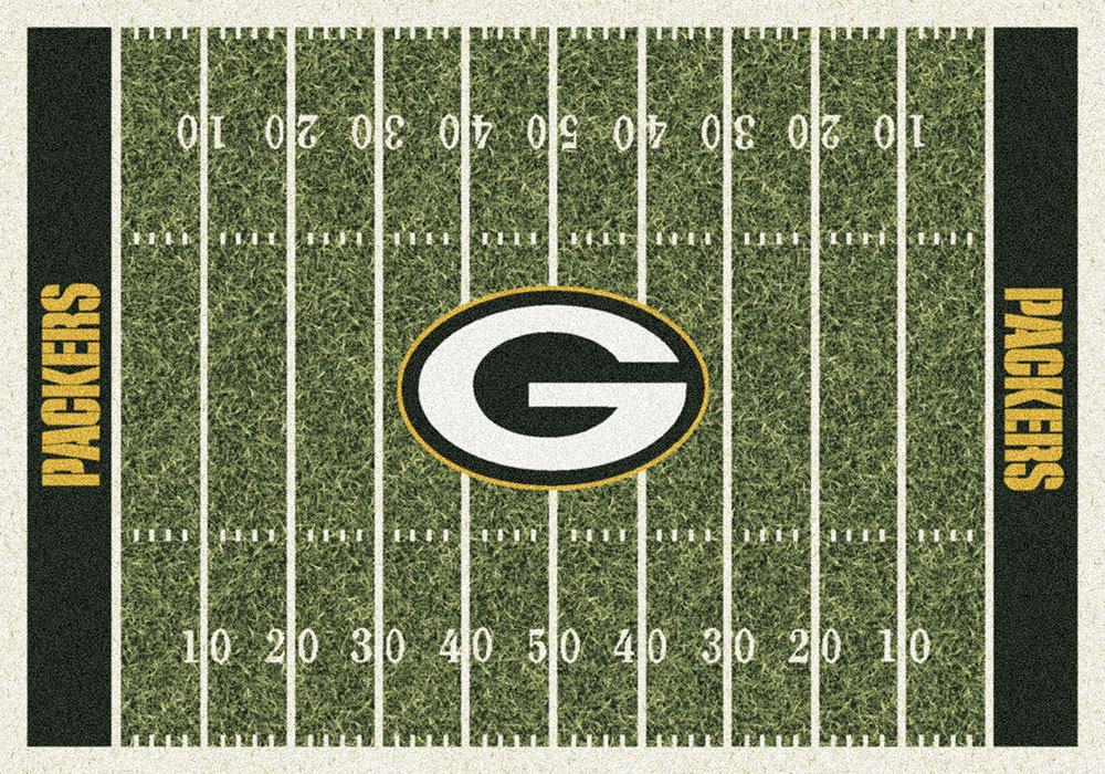 Green Bay Packers Nfl Football Home Field Logo Area Rug