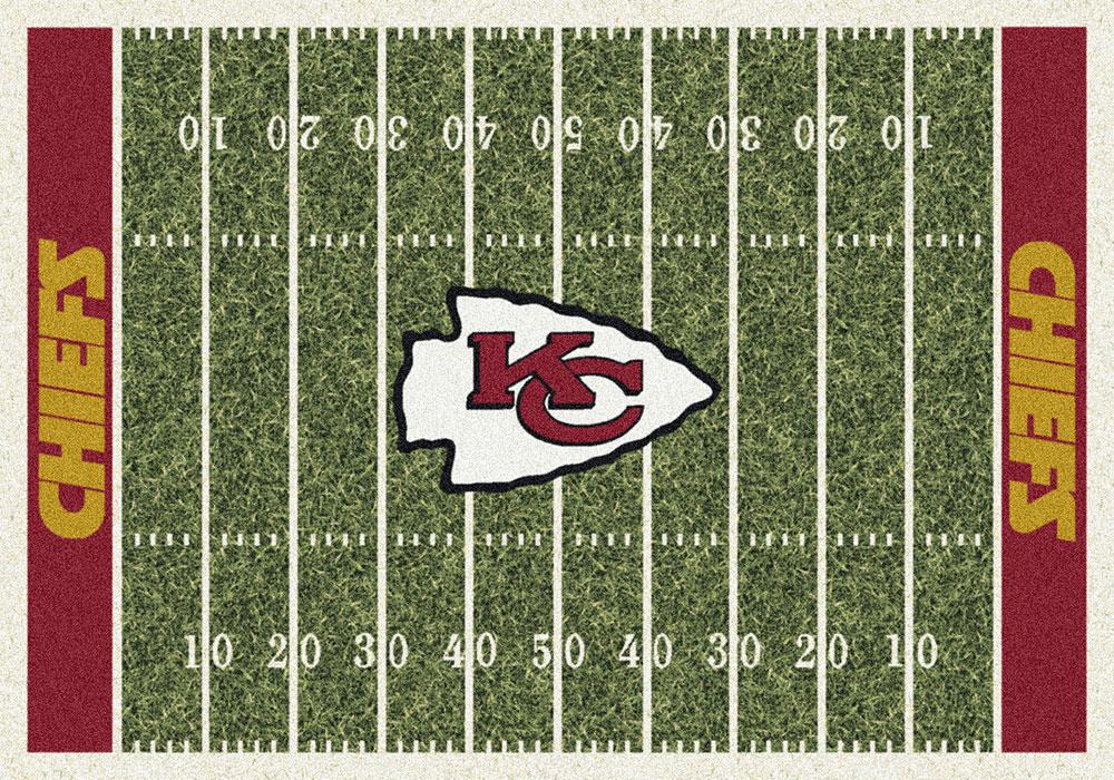 Kansas City Chiefs Home Field Area Rug Nfl Football Logo