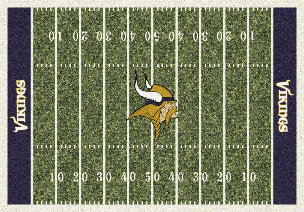 Minnesota Vikings Home Field Area Rug Nfl Football Logo