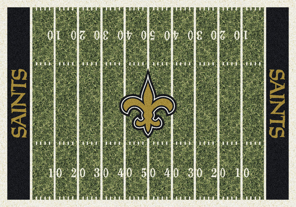 New Orleans Saints Home Field Area Rug Nfl Football Logo