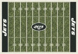 New York Jets Home Field Area Rug - NFL Football Logo