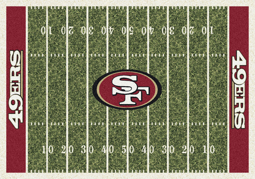 San Francisco 49ers Home Field Area Rug Nfl Football Logo