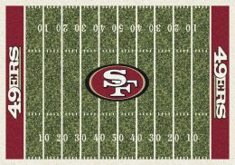 San Francisco 49ers Home Field Area Rug - NFL Football Logo