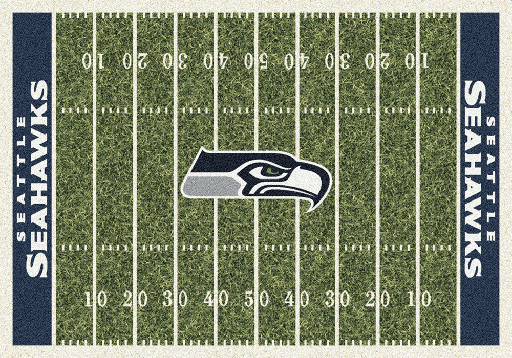 Seattle Seahawks Home Field Area Rug NFL Football Logo