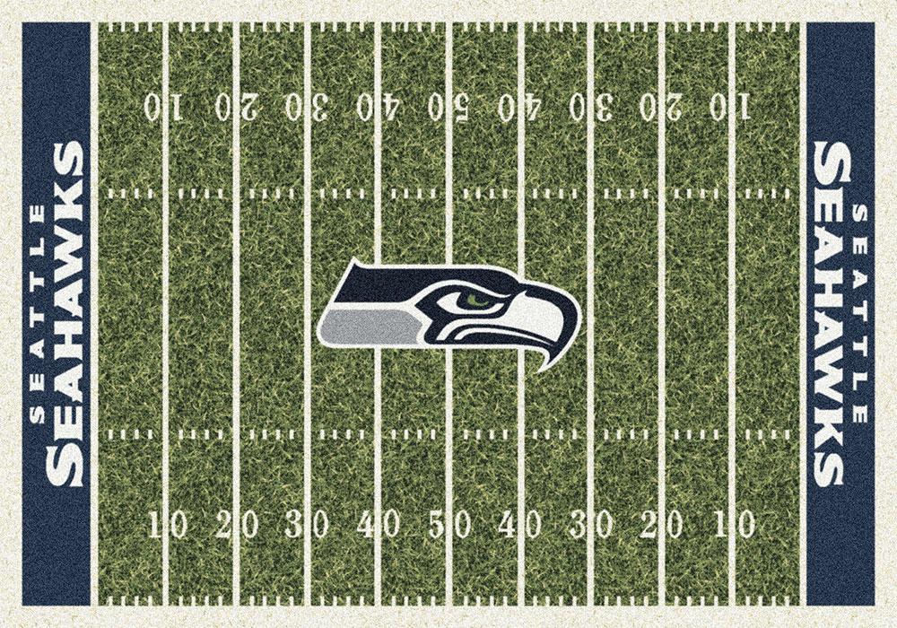 Seattle Seahawks Home Field Area Rug Nfl Football Logo