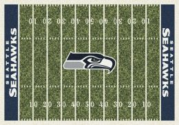 Seattle Seahawks Home Field Area Rug - NFL Football Logo
