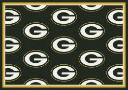 Green Bay Packers Reapeting Logo Area Rug
