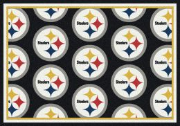 Pittsburgh Steelers Reapeting Logo Area Rug