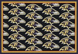 Baltimore Ravens Reapeting Logo Area Rug