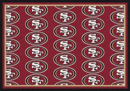 San Francisco 49ers Reapeting Logo Area Rug