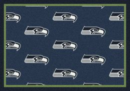 Seattle Seahawks Reapeting Logo Area Rug