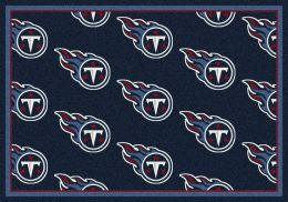 Tennesseee Titans Reapeting Logo Area Rug