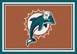 Miami Dolphins Spirit Area Rug - NFL Football Mat