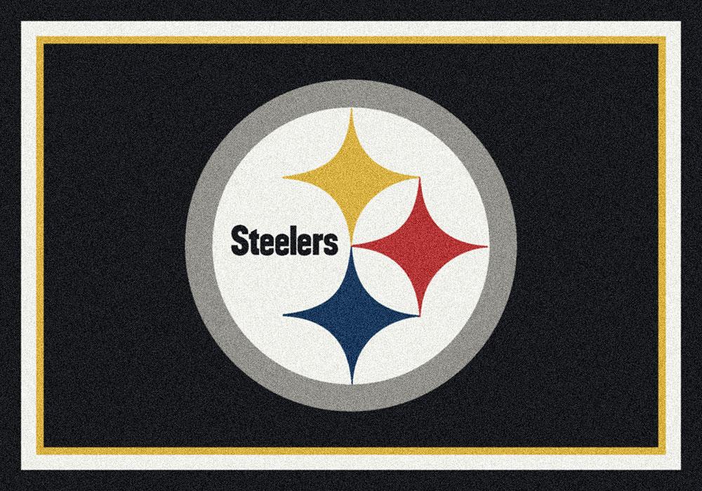 Pittsburgh Steelers Spirit Area Rug   NFL Football Mat