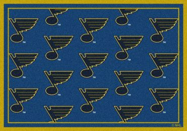 St Louis Blues NHL Repeating Logo Nylon Area Rug