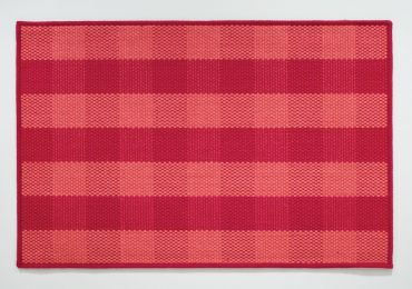 Red Plaid Jute Rug