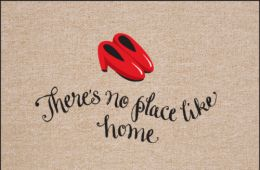 No Place Like Home Indoor or Outdoor Olefin Floor Mat - Doormat