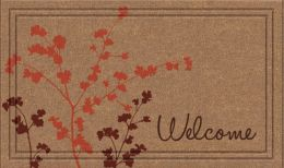 Naturelles Simple Welcome Faux Coir Rubber Backed Welcome Mat