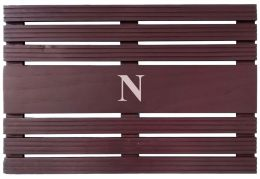 Monogrammed Painted Teak Wood Welcome Doormat