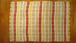 Darby Stripe Yellow-Red Woven Rag Rug