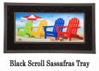 Sassafras Colorful Adirondack Chairs Mat - 10 x 22 Insert Doormat