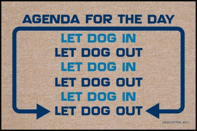 Agenda for the Day Doormat - 19x30 Funny