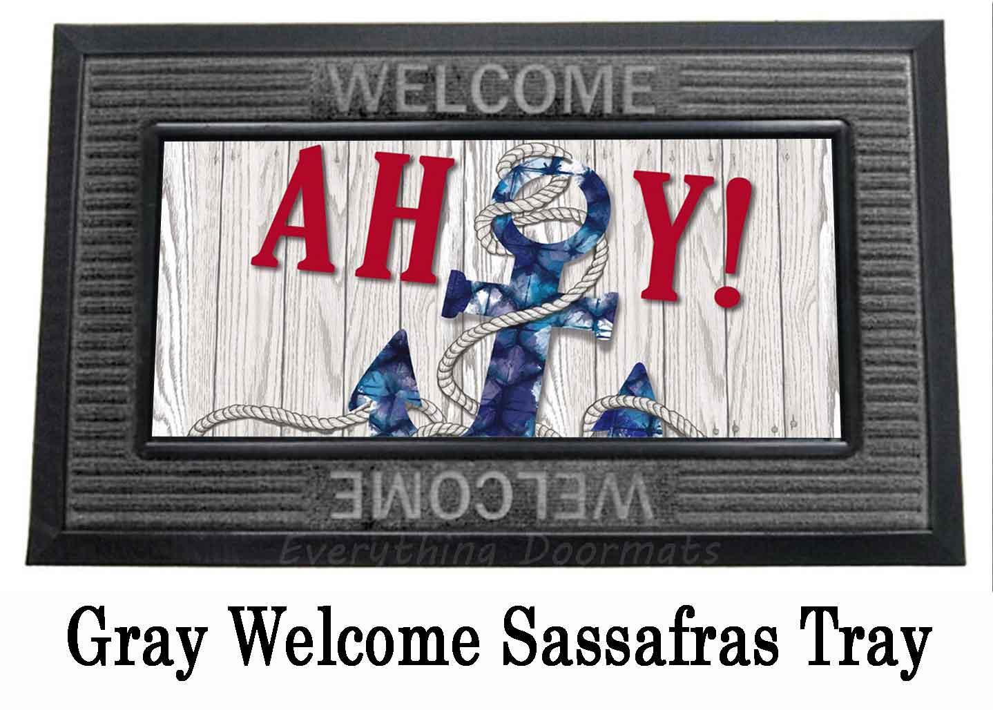 Sassafras Ahoy Mat 10 X 22 Insert Doormat