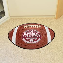 Alabama Football Shaped Area Rug – 2020-21 BCS Championship
