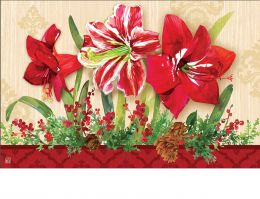 Indoor & Outdoor Amaryllis MatMate Doormat-18x30
