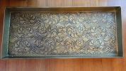 Embossed Arabesque Bronze Finished Boot Tray - 30 x 13 x 2