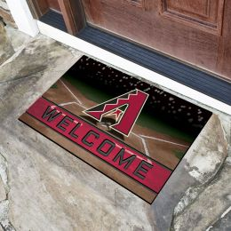 Arizona Diamondbacks Flocked Rubber Doormat - 18 x 30