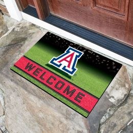 Arizona  University Flocked Rubber Doormat - 18 x 30
