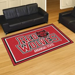 Arkansas State University Red Wolves Area Rug – 5 x 8