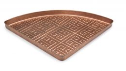 Embossed Athens Copper Corner Boot Tray - 22 x 31 x 2
