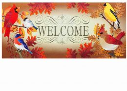Sassafras Autumn Song Birds Mat - 10 x 22 Doormat