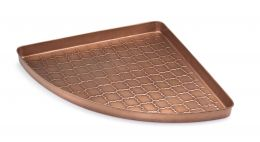 Embossed Barcelona Copper Corner Boot Tray - 22 x 31 x 2
