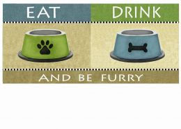 Sassafras Be Furry Switch Mat - 10 x 22 Insert Doormat