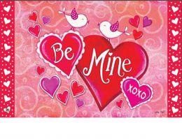 Indoor & Outdoor MatMates Doormat - Be Mine Birds