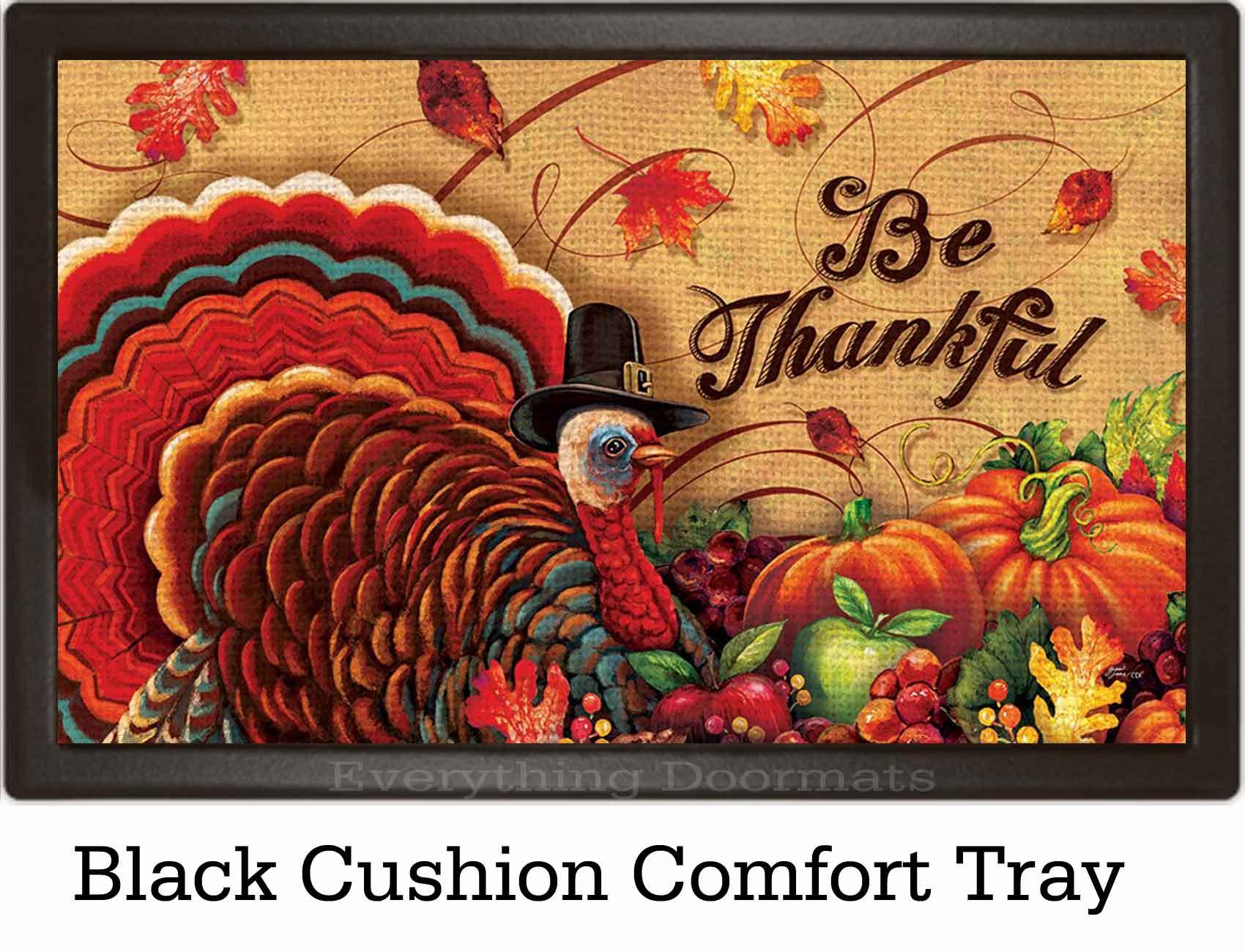 & Outdoor Be Thankful Insert Doormat - 18x30