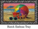 Hatch Embossed Beach Ball Doormat - 19 x 30