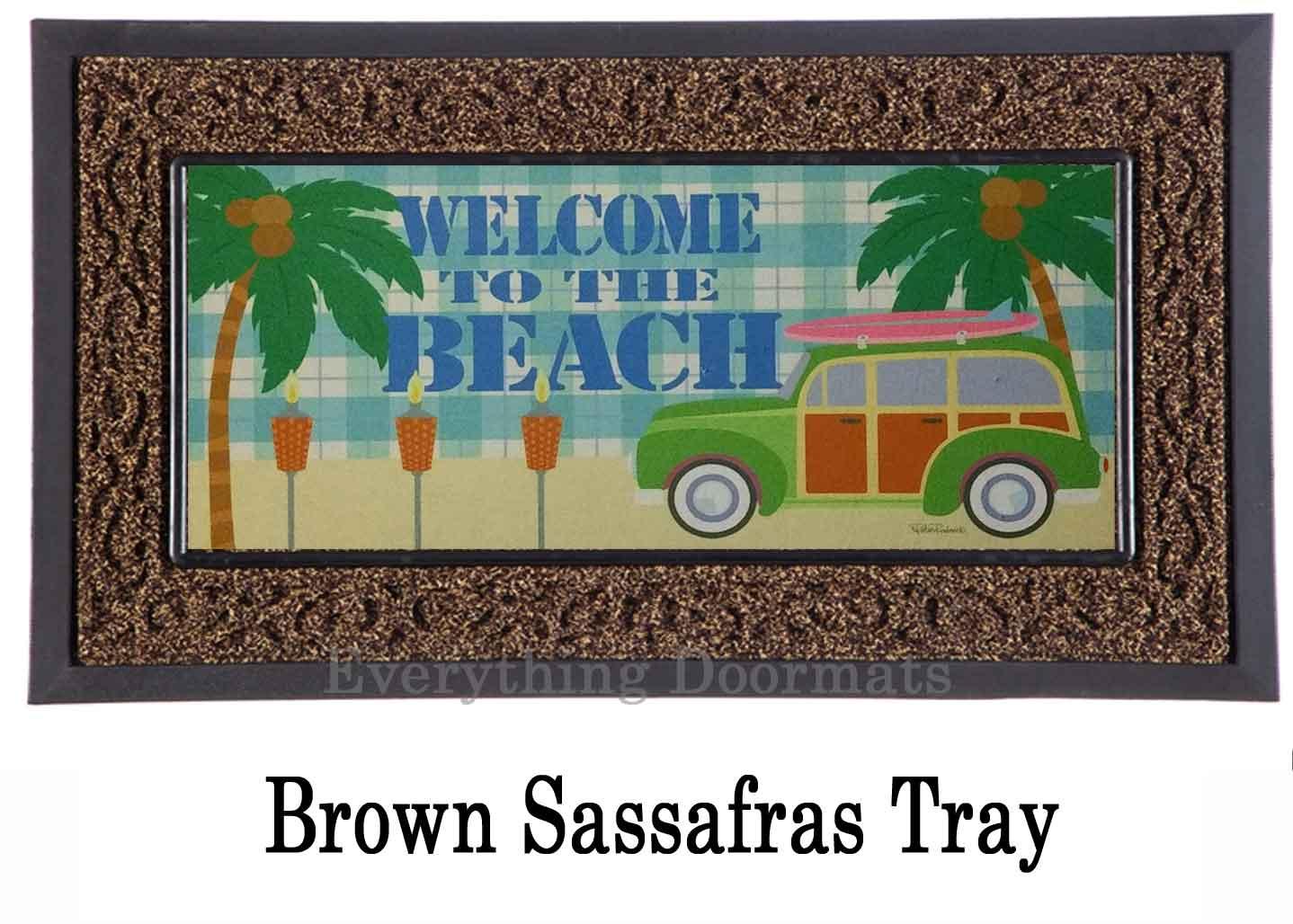 Sassafras Beach Welcome Mat 10 X 22 Insert Doormat