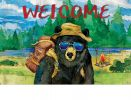 Indoor & Outdoor Bear Camper Insert Doormat - 18x30