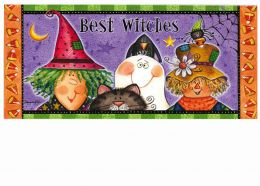 Sassafras Best Witches Switch Insert Doormat - 10 x 22