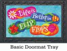 Indoor & Outdoor Better in Flipflops Insert Doormat-18x30