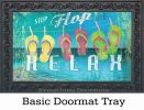Indoor & Outdoor Better in Flip Flops MatMate Doormat-18x30