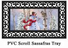 Sassafras Birch Forest Snowman Switch Doormat - 10 x 22